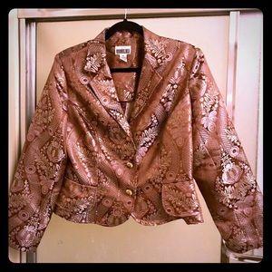Copper color brocade jacket